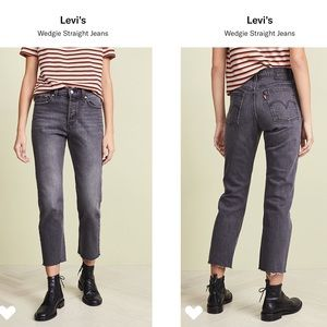 Levi's Wedgie Straight Raw Hem Jeans